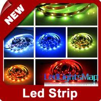 DHL EMS Free Shipping 5M RGB 5050 SMD 150 LED Strip Stripe Non-waterproof 100M/lot