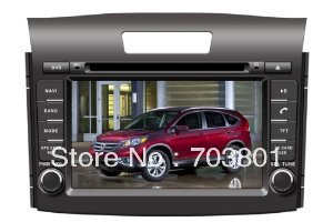 7 Inch 2 Din Car DVD Player for HONDA CRV 2012,DVD/Analog TV/BT/Game/GPS/PIP/Rear Review/IPOD/Touch screen Function