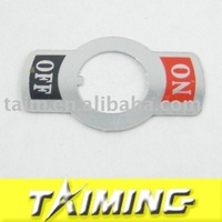4 on-off indicator signs aluminum Small toggle switch indicator