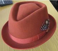 Wool fedoras little gentleman hat jazz hat male women's Wine Dark red gray black