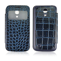free shipping 10pcs/lot Crocodile style leather case for Samsung galaxy s4 mini i9190+Retail box