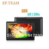 "Freeshipping  EP 7"" Allwinner A13 Q88 tablet pc android 4.0 1.2GHz RAM DDR3 512MB ROM 4GB"