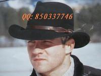 Wool fedoras cowboy hat male women's fedoras