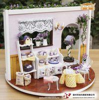 Free shipping! diy house, diy mini house, Diy rotating music lavender rosarium