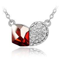 New 18 KGP Crystal Necklace Costume Jewelry nobility fashion elegant female gift  Wedding Jewelry