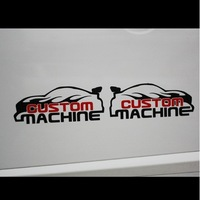 Cissy car stickers custom machine applique car sticker waterproof stickers a pair of, two color, CPAM