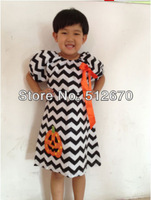 New Arrive 2013 latest fashion red summer chevron cotton One-shoulder dress with ruffles for girl Baby Toddler Girl Cotton Dress