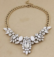 Minimum Order $20 (mixed order)  fashion glass crystal advanced synthetic gem white necklace