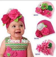 NEW DESIGN retail or wholesale Fall Baby Hat, Modeling of flower children's fashion cap kid hat