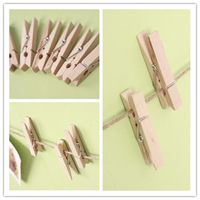 100pcs Mini Wooden Pegs Wooden Natural Coloured Mini Pegs Crafts Wooden Clips 35mm
