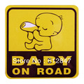 "Free Shipping Singapore Post With Personalized Car stickers ""Baby On Road"" For Car Tail / Board /Car window Sticker Vinyl Decal"