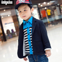 2013 spring winter new children clothing brand size 7 to 8 10 12 year old lot Fashion boys long-sleeved suit jacket lapel