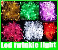 Led twinkle Christmas Light Strip 10m waterproof/wedding/decoration/banquet 110V or 220V 100 bulbs 10m