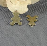 Alloy pendant, charms, animal - bear 19*15mm ,  antique brass plating, item ALP1178