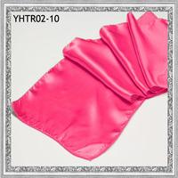 "2013 Free Shipping  Cheap Fuchsia 13.6""x108""(35cm*275cm) Satin Table Runners For Weddings"