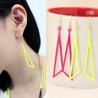 Min order $15 mixed order Fashion vintage geometry shaped  multicolor earrings drop earrings wholesale free shipping