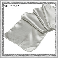 """2013 wholesale Free Shipping Brand New 13.6""""x108""""  silver  satin holiday table runners"""