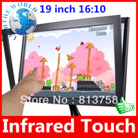 19 inch 16:10 5 Wire USB Plug  Infrared Multi Touch Screen Panel kit for Win7/8 Play Infrared touch screen usb touch screen