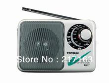 Free Shipping Radio TECSUN R201T AM FM TV Sound 2-5CH Portable Built-In Speaker 2*R6 Quality IC High Sensitivity Pocket Receiver