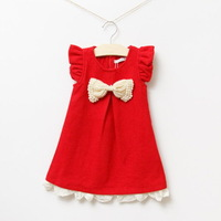 Best quality!Girls fashion woolen dress,children princess dress,for autumn,beaded bow,5 pcs / lot,wholesale kids clothing online