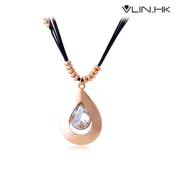 Fashion personalized Crytal pendants necklace ,gold plated female accessories,Free Shipping. lovely Jewelry Wholesale