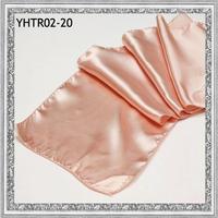 "2013 wholesale 100pcs/lot 13.6""x108""(35cmx275cm)  Peach  Satin dining table runners"