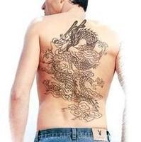 Free shipping waterproof tattoo stickers male Women large size 23*34CM tattoos