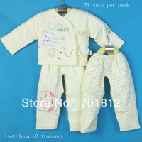 baby clothes set,newborn baby clothing,baby wear garment spring&autumn,cotton-padded jacket,autumnwear,wholesale,57sets per pack