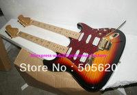 Custom Shop Sunburst Stratocaster Signature ST Double Neck Electric Guitar Wholesale