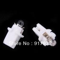 10pcs/ lot 12V white T5 B8.3D  Car Gauge LED Speedo Dashboard Dash Wedge Side Light Bulb Lamp
