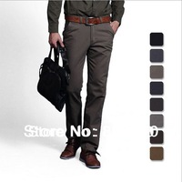 2014 Thick and thin Men casual Cotton casual pant Straight pants Man jeans Slim pants /size 29-38/ 12 colors
