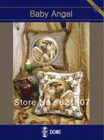 New design cross stitch pillow 14ct unprinted fabric and diy handcraft Baby Angel