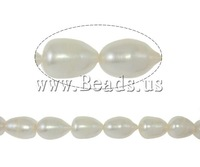 Free shipping!!!Rice Cultured Freshwater Pearl Beads,Beautiful Jewelry, natural, white, A, 10-11mm, Hole:Approx 0.8mm