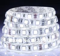 free shipping  Wholesale 100lotS 5050 LED Strip SMD Flexible light 60led/m 300 5M waterproof warm/white/red/green/blue/yellow