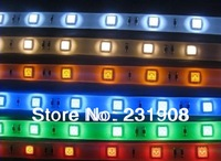 free shipping  Promotion HOT SALE 5050 LED Strip SMD Flexible light 60led/m 300 5M waterproof warm/white/red/green/blue/yellow