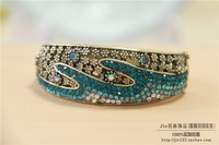 National accessories tibetan jewelry spoondrifts cutout carved diamond royal vintage bracelet 127