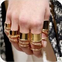 Free shipping ,Set Ring,Glossy metallic metal ring plurality Ring (OD0047)