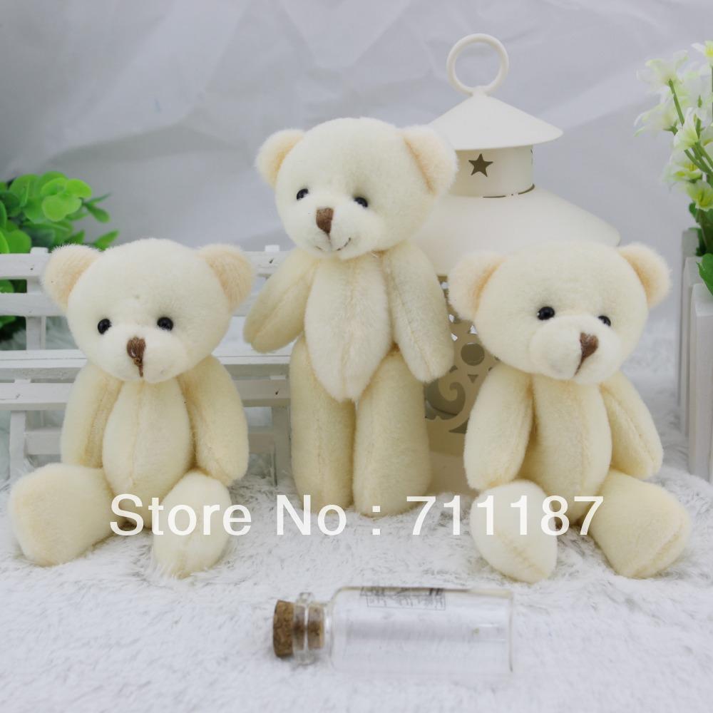 Wholesale the Small Soft Toy Cute Cotton Stuffing Little Gifts Stuffed Bears Plush Naked Bear 12-13CM Small Bear, Free Shipping(China (Mainland))