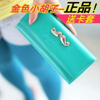Hot sale Fresh gentlewomen letter women's japanned leather wallet long design  gift+freeshipping