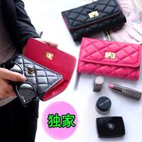 Hot sale 2013 plaid wallet women's medium-long wallet day clutch wallet female  gift+freeshipping