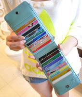 Hot sale 2013 women's long design wallet women's scrub zipper multi card holder card holder mobile phone bag  gift+freeshipping