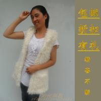 Vest fur vest berber fleece hooded vest slim female outerwear 2012 medium-long