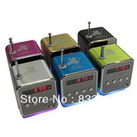 6pc TD-V26 Portable Mini Digital Speaker for MP3 MP4 PC,Support Radio, USB, TF/SD Card, Free Shipping
