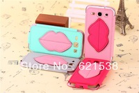 Free Shipping 1pcs Lips Leather Case Cover  for Samsung Galaxy Grand Duos i9082