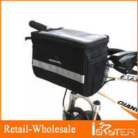 2013 New Cycling Bicycle Handlebar Bag Front Tube Bar Basket Frame Pannier Quick Release Bag Black