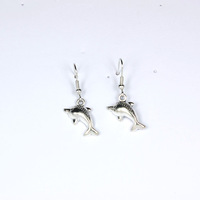 Wholesale Lead and Nickel Free Wholesale Fashion Jewelry for 2013 Drop Earring Dolphins Design Vintage Items No. P00639