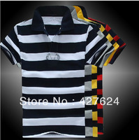 2013 summer models multicolor fashion Slim striped men polo shirt men short sleeve men's T-shirt foreign trade polo shirt