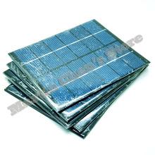 5pcs/lot 6V 330mA 2W mini solar panels small solar power 3.6v battery charge solar led light solar cell drop shipping(China (Mainland))