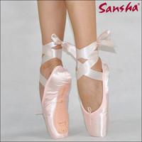 Sansha silk satin toe shoes ballet shoes dance shoes hard