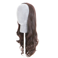 Free Shipping Womens Girls 3 color New Fashion Romantic 3/4 Full Hair Long Wavy Curly Half Wig LX0045 Drop Shipping